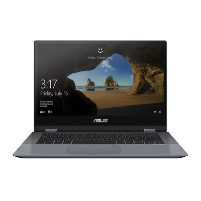 "ASUS VivoBook Flip TP412FA-EC011T 14"" i3 8GB RAM 256GB SSD Touch Laptop - Grijs"
