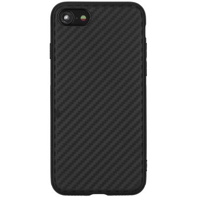 CP-CASES Carbon Softcase Backcover iPhone SE (2020) / 8 / 7 - Zwart - Zwart / Black Accessoire