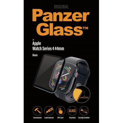 PanzerGlass Apple Watch Series 4 Screen Protector, 44mm Black, Curved Edges screen protector - Zwart