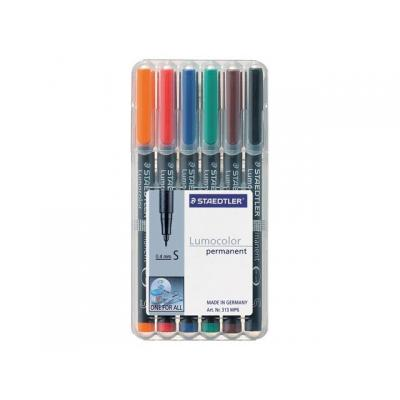 Lumocolor markeerstift: OHP/CD/DVDmarker Lc313 SF ass/etui 6