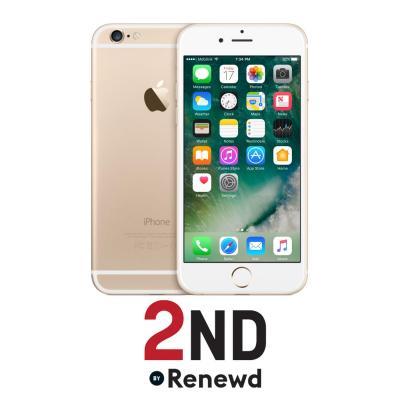 2nd by renewd smartphone: Apple iPhone 6 refurbished door 2ND - 16GB Goud (Refurbished AN)