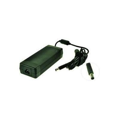 2-power netvoeding: AC Adapter 18.5V 120W w/ Power cable for HP EliteBook 8530p - Zwart