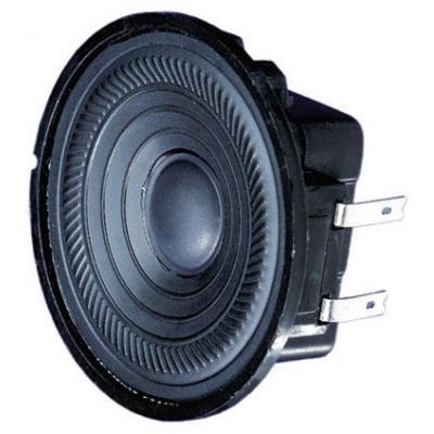 Visaton : K 50 WP, 50 Ohm, 2 W, 180–17000 Hz, 84 dB, 180°/4000 Hz, +/−1 mm, IP 65, −40 ... 80 °C - Zwart