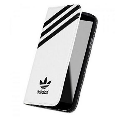 Adidas Booklet Case, Samsung Galaxy S5 Mobile phone case - Zwart, Wit