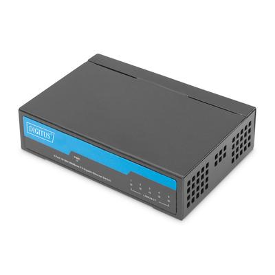 Digitus 5 port Gigabit Network Switch - Zwart