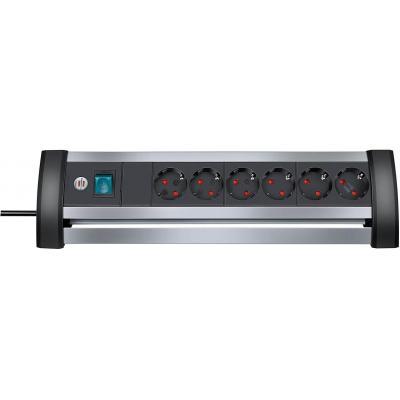 Brennenstuhl surge protector: BN-TCD1121 - Aluminium, Zwart
