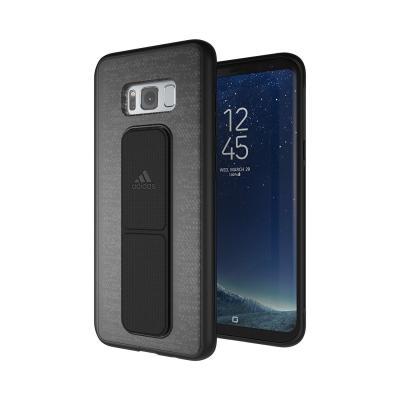 Adidas mobile phone case: Originals Grip Hard Cover for Samsung Galaxy S8 Plus, Black - Zwart