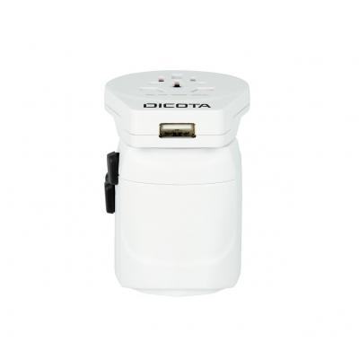 Dicota World Adapter PRO & USB Netvoeding - Wit