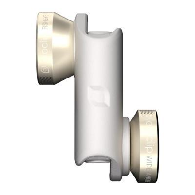 Olloclip : Fisheye/Macro 10x/Macro 15x/Wide-Angle lenses for iPhone 6/6 Plus - Goud, Wit