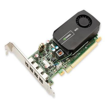 Dell videokaart: NVIDIA Quadro NVS 510, 2GB, DDR3, 4 mini-DisplayPort, PCI Express 3.0 x16, OpenGL, DirectX