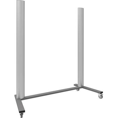 """SmartMetals Mobiel statief (open frame) voor VideoWall 3x3, 46-60"""" TV standaard - Aluminium, Grijs"""