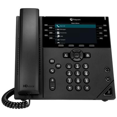 POLY VVX 450 Skype for Business IP telefoon - Zwart