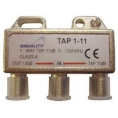 Digiality kabel splitter of combiner: Antenna 1-Way Tap 11 dB split 5-1000 MHz