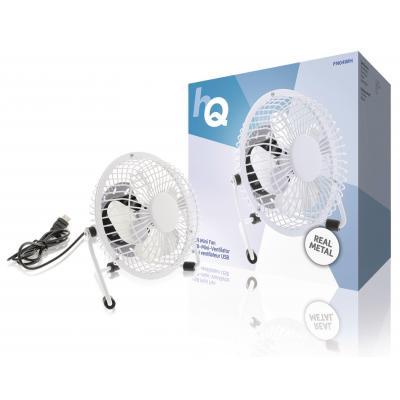 Hq ventilator: 2.5W, USB, 360°, Metal, 1m - Wit