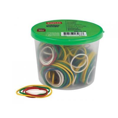 Staples elastiek: Elastiek SPLS assorti /pk50gr
