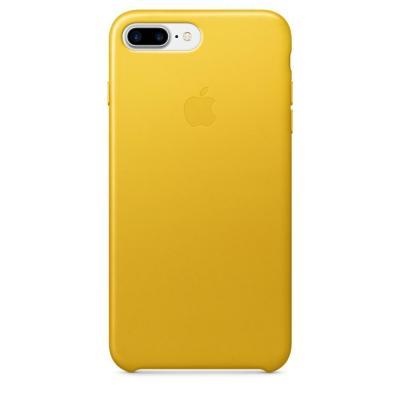 Apple mobile phone case: Leren hoesje voor iPhone 7 Plus - Zonnebloemgeel