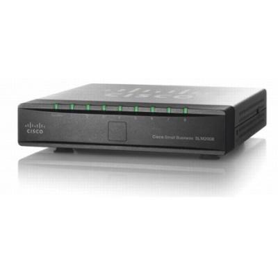 Cisco switch: SLM2008 PoE - Zwart