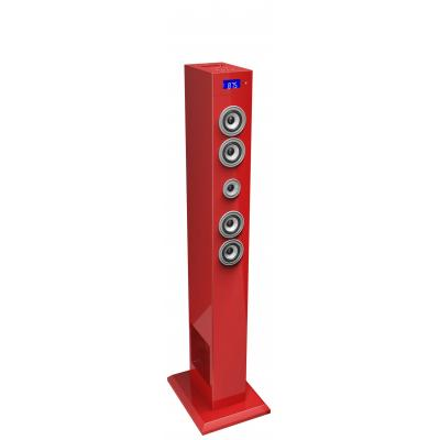 Bigben interactive home stereo set: Multimedia bluetooth sound tower - Rood