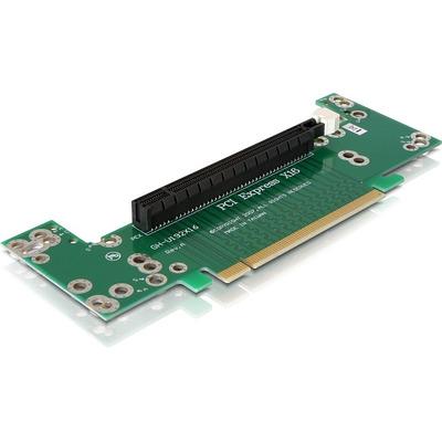 DeLOCK Riser card PCI Express x16 angled 90° left insertion 2 U Slot expander