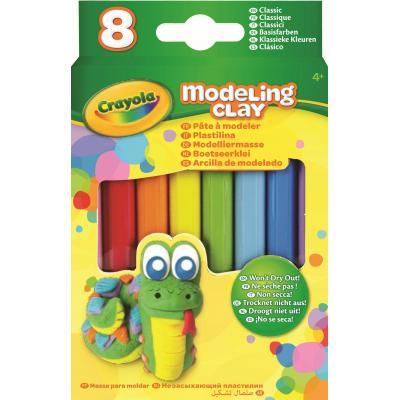 Crayola kinder modellering verbruiksartikel: Boetseerklei - 8 sticks Klassieke Kleuren - Veelkleurig