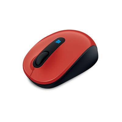 Microsoft Sculpt Mobile Mouse Computermuis - Zwart, Rood
