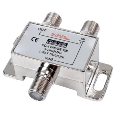 König kabel splitter of combiner: 1-Weg Tap, 5-2400MHz, 8dB