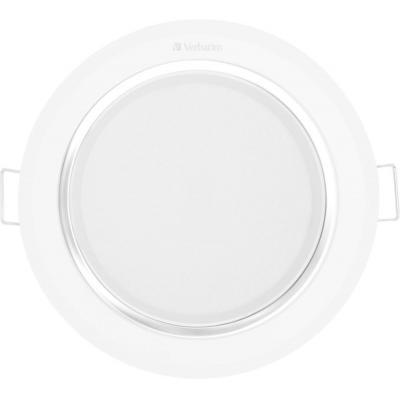 Verbatim plafondverlichting: LED Downlight, 11W - Zilver, Wit
