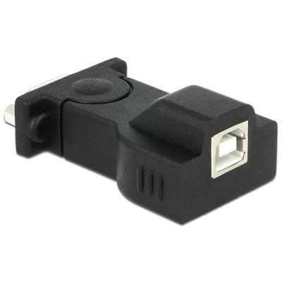 DeLOCK Adapter USB 2.0 > 1 x Serial Kabel adapter - Zwart