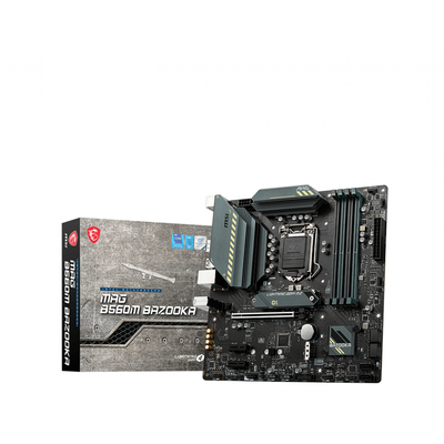 MSI LGA 1200, Intel B560 Chipset, 4 x DDR4-SDRAM up to 128GB, LAN, 1 x RJ-45, 6 x SATA III, 2 x M.2(M), UEFI AMI, .....