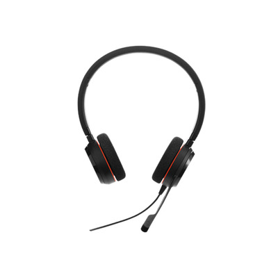 Jabra headset: Evolve 20 UC Stereo - Zwart