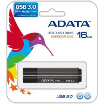 Adata USB flash drive: S102 Pro - Grijs