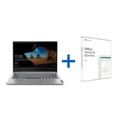 Lenovo ThinkBook 13s i5 + Microsoft Office 2019 Home & Business bundel Laptop - Grijs