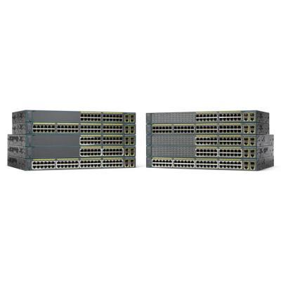 Cisco switch: Catalyst Catalyst 2960-Plus switch, 24 x 10/100 Ethernet Ports, 2 dual mode Uplinks, LAN Lite - Zwart