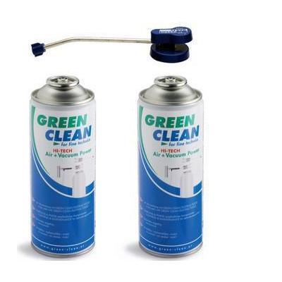 Green Clean 1x Top Ventil + 2x HI-TECH Air + Vacuum Power 400ml Reinigingskit - Blauw, Groen, Wit