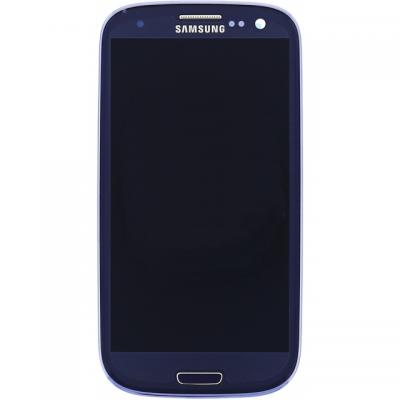 Samsung mobile phone spare part: GT-I9301 Galaxy S3 Neo, Complete Front+LCD+Touchscreen, blue