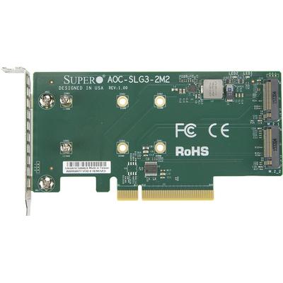 Supermicro AOC-SLG3-2M2 Interfaceadapter - Groen