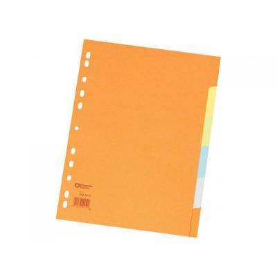 Staples schutkaart: Tabblad SPLS A4 11r 5-kleur karton/set 5