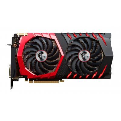Msi videokaart: GeForce GTX 1080 Gaming X 8GB - Zwart, Rood