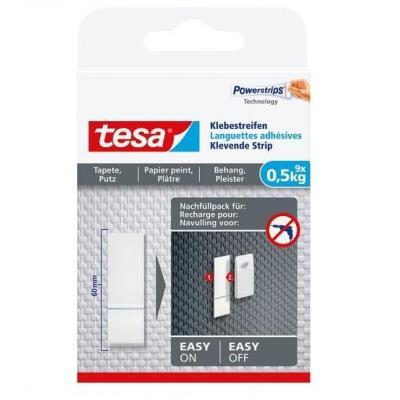 Tesa : Kleefstrips voor behang & pleisterwerk 0,5kg - Wit