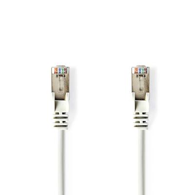 Nedis Cat5e, SF/UTP, PVC, Gigabit Ethernet, 27AWG, White, 0.25m Netwerkkabel - Wit
