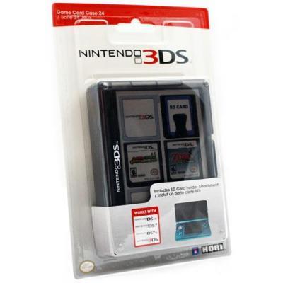 Hori : 3DS Game Card Case 24 (Black) - Zwart