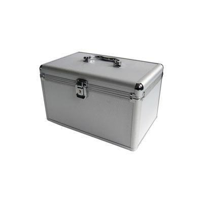 Mediarange mediadoos: Media storage case for 120 discs, aluminum look, with hanging sleeves, silver - Zilver