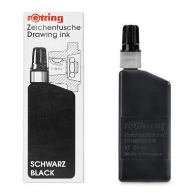Rotring Drawing Inks - 23ml, Black Pen-hervulling - Zwart
