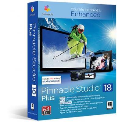 Pinnacle videosoftware: Studio 18 Plus