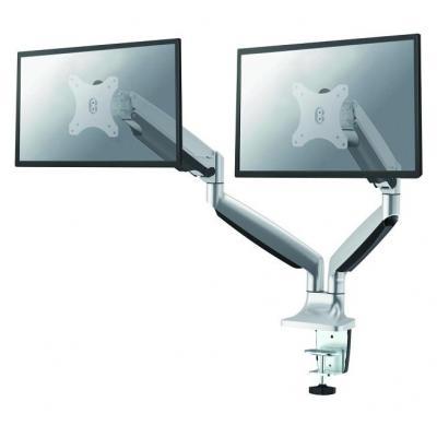Newstar monitorarm: NM-D750DSILVER bureausteun met gasveer voor flat screens - Zilver