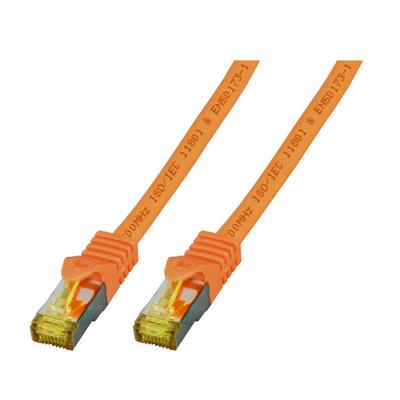 EFB Elektronik RJ45 Patch cable S/FTP, Cat.6A, LSZH, Cat.7 Raw cable, 3m, orange Netwerkkabel - Oranje