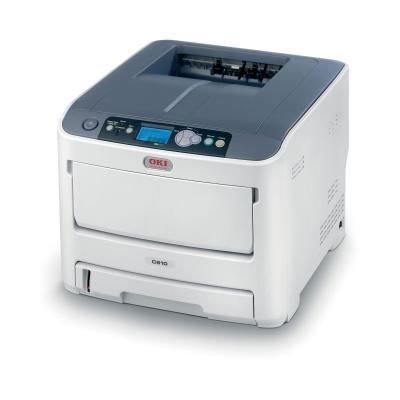 OKI laserprinter: C610n - Zwart, Wit