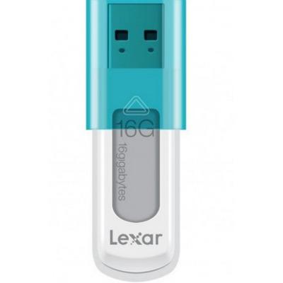 Lexar 16GB JumpDrive S50 USB flash drive - Blauw, Wit
