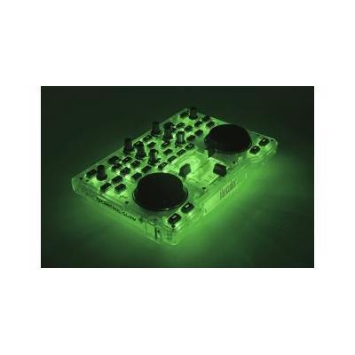 Hercules DJ controller: 2x RCA, 32 - 600 Ohm, 16-bit, USB, 1000g, Grøn - Groen