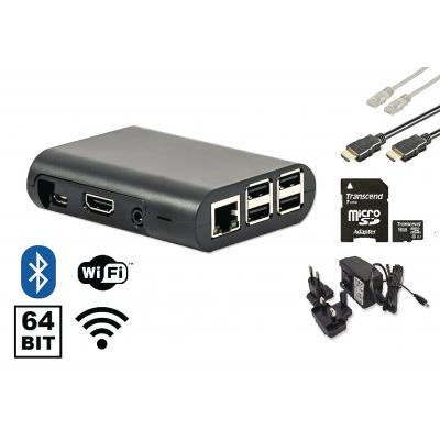Raspberry pi mediaspeler: 3 Starter Kit + Wi-Fi + Bluetooth + NOOBS Software Tool